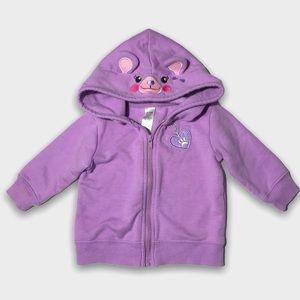 4/$20🥳 Purple Cotton Zip Up Hoodie